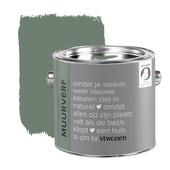 vtwonen muurverf krijtlook mat army green 2,5 liter