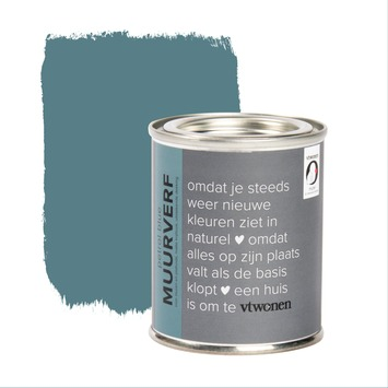 vtwonen tester muurverf krijtlook mat petrol blue 100ml