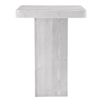 Statafel Olburg wit steigerhout 110x82 cm