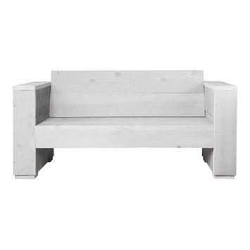 Loungebank Marlind 2-zits wit steigerhout 73x150x77 cm