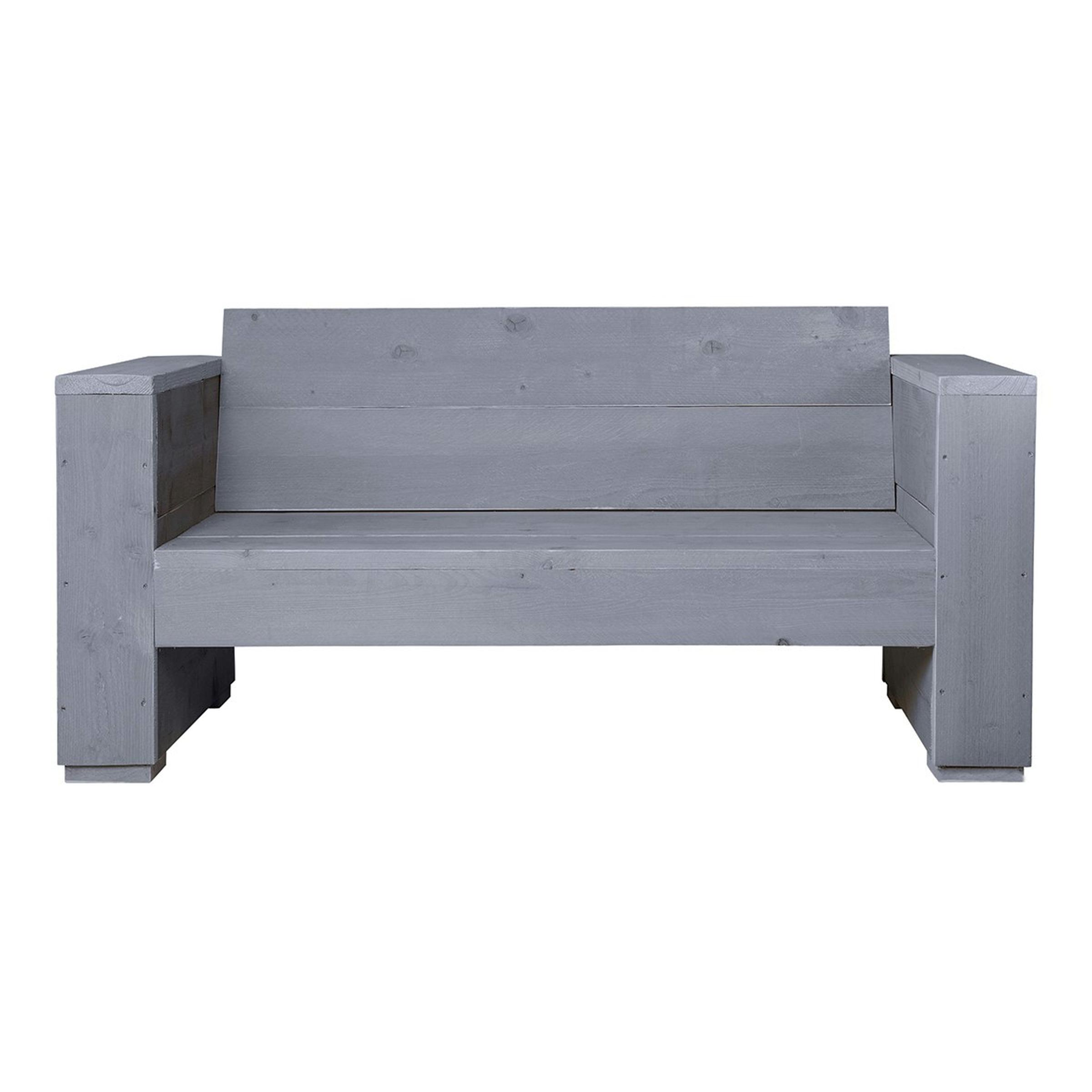 Sombrero loungebank massief 2-zits 150x77xH73 cm grijs