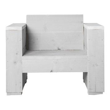 Loungestoel Marlind wit steigerhout 90x77 cm