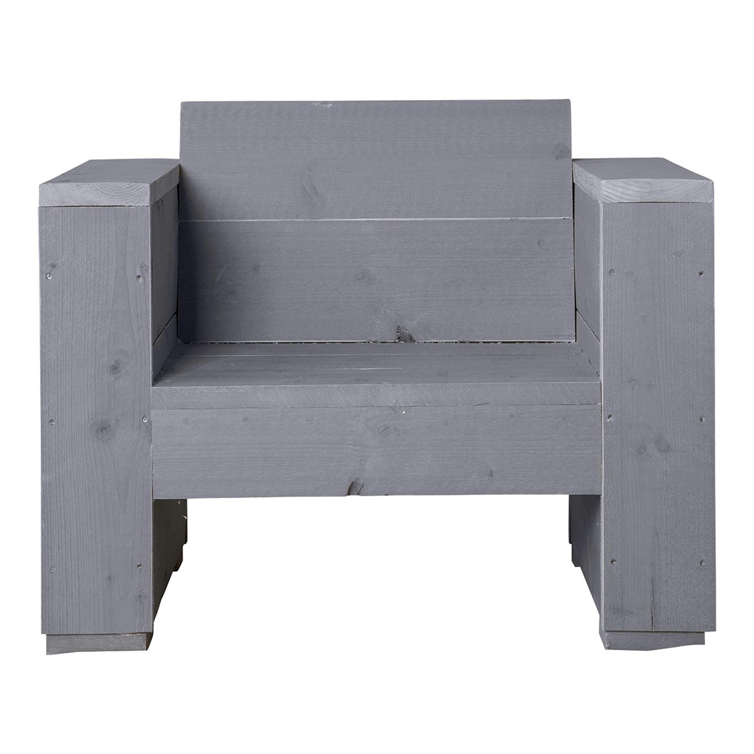 Sombrero loungestoel massief grijs