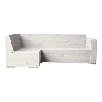 Hoekbank Engelburg wit steigerhout 216x145 cm
