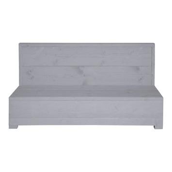 Tussenelement Hava 2-pers grijs steigerhout 132x75 cm