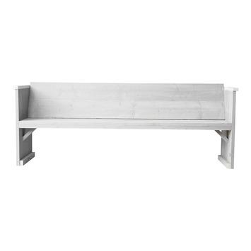 Bank Radlind wit steigerhout 206x60 cm