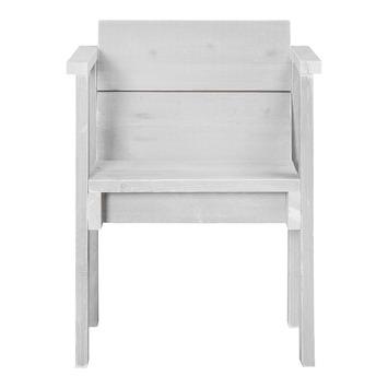 Stoel Sella wit steigerhout 83x66 cm