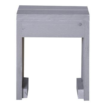 Kruk Rixt grijs steigerhout 45x38 cm