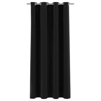 le noir blanc kant en klaar gordijn lichtdoorlatend zwart 1138 140 x 280