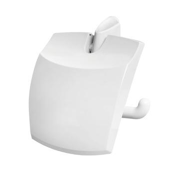 OK toiletrolhouder met klep wit