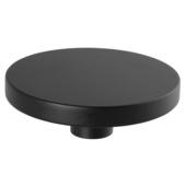 Kapstok knop zwart 100 mm