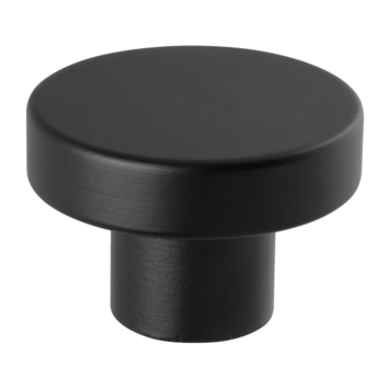 Kapstok knop zwart 50 mm