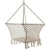 Hangstoel Franjes beige 121x80x80 cm