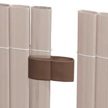 Verbinder walnoot voor balkonscherm 4 stuks