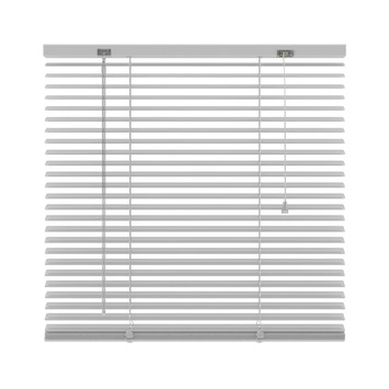 KARWEI horizontale aluminium jaloezie 25 mm wit (201) 240 x 250 cm (bxh)