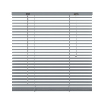 KARWEI horizontale aluminium jaloezie 25 mm zilver (221) 100 x 250 cm (bxh)