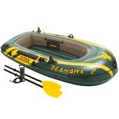 Intex 2-persoons opblaasboot  Seahawk. Met pomp en peddels