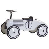 Retro Roller loopauto Lewis metaal wit