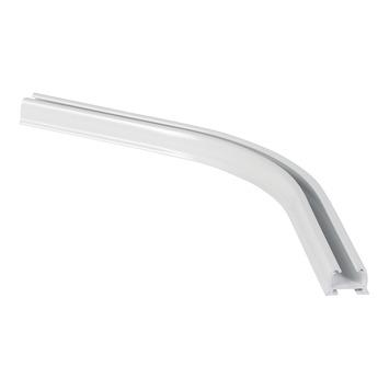 135° bocht gordijnrail Endless wit