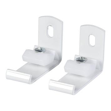 3,5 cm wandsteun gordijnrail Endless wit 2 stuks