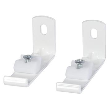 6 cm wandsteun gordijnrail Endless wit 2 stuks