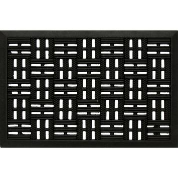 Deurmat 40x60cm zwart