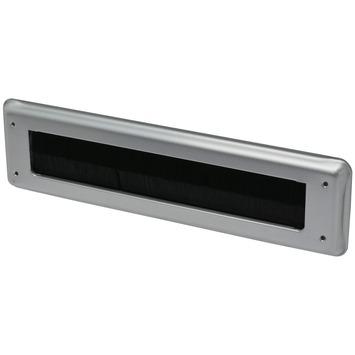Handson brievenbus borstel aluminium