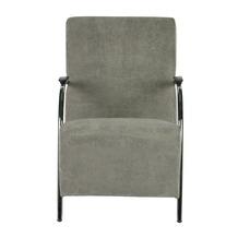 WOOOD fauteuil Halifax ribcord vergrijsd groen