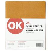 OK schuurpapier assorti 25 stuks