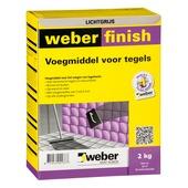 Weber SG voegmiddel wand/vloer lichtgrijs 2 kg