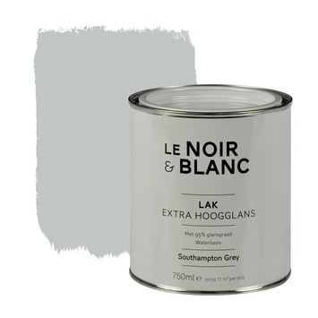 Le Noir & Blanc lak extra hoogglans south grey 750 ml