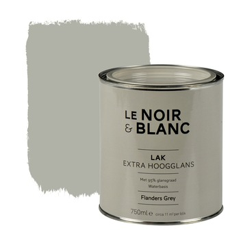 Le Noir & Blanc lak extra hoogglans flanders grey 750 ml