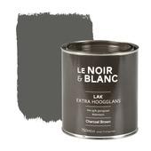 Le Noir & Blanc lak extra hoogglans charcoal brown 750 ml