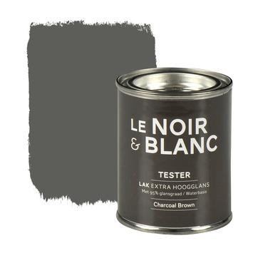 Le Noir & Blanc lak extra hoogglans charcoal brown 100 ml