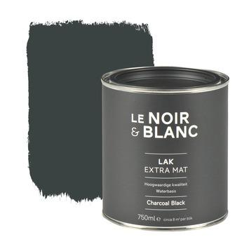 Le Noir & Blanc lak extra mat charcoal black 750 ml