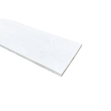 Steigerhout ca. 15x200 mm, lengte 240 cm wit