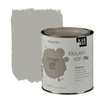KARWEI Kleuren van Nu lak zijdeglans linnengrijs 750 ml