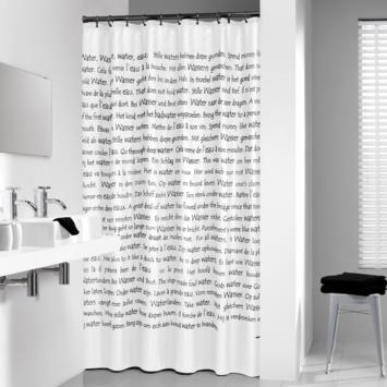 Sealskin Sayings douchegordijn wit 180 x 200 cm