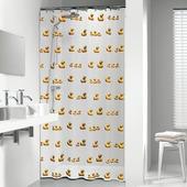 Sealskin Duckling douchegordijn geel 180 x 200 cm