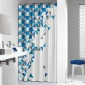 Sealskin Tangram Douchegordijn Textiel Blauw 180x200 cm
