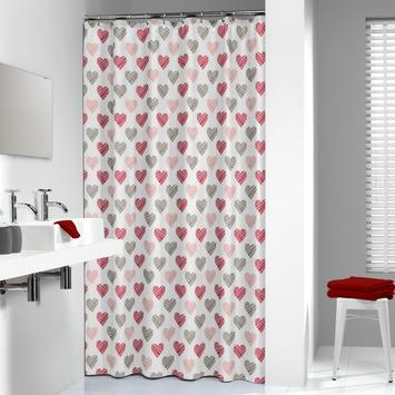 Sealskin Amor Douchegordijn Textiel 180x200 cm Rood kopen ...