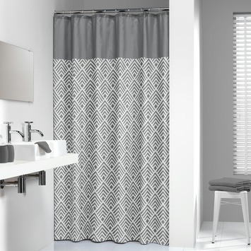Sealskin Angoli textiel douchegordijn grijs 180x200 cm