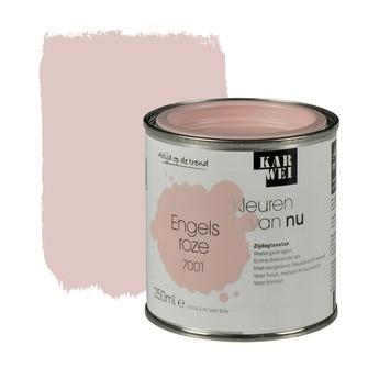 KARWEI Kleuren van Nu lak zijdeglans engels roze 250 ml