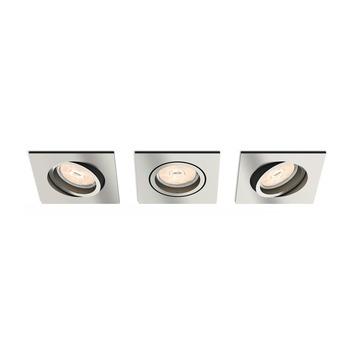 Philips inbouwspot Donegal nikkel 3 stuks