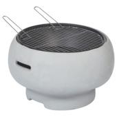 Vuurkorf barbecue Florida grijs d55x33 cm