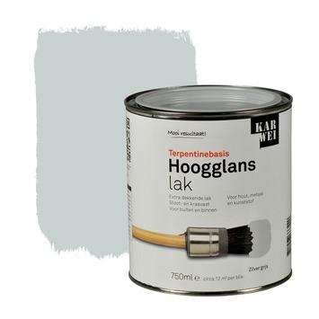 KARWEI lak hoogglans zilvergrijs extra dekkend 750 ml