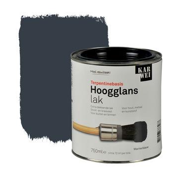 KARWEI lak hoogglans marineblauw extra dekkend 750 ml