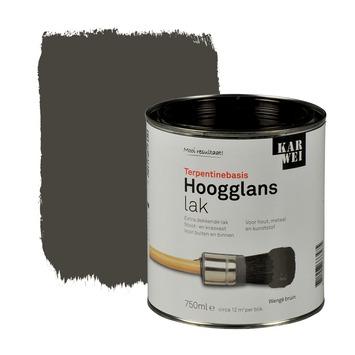 KARWEI lak hoogglans wengé bruin extra dekkend 750 ml