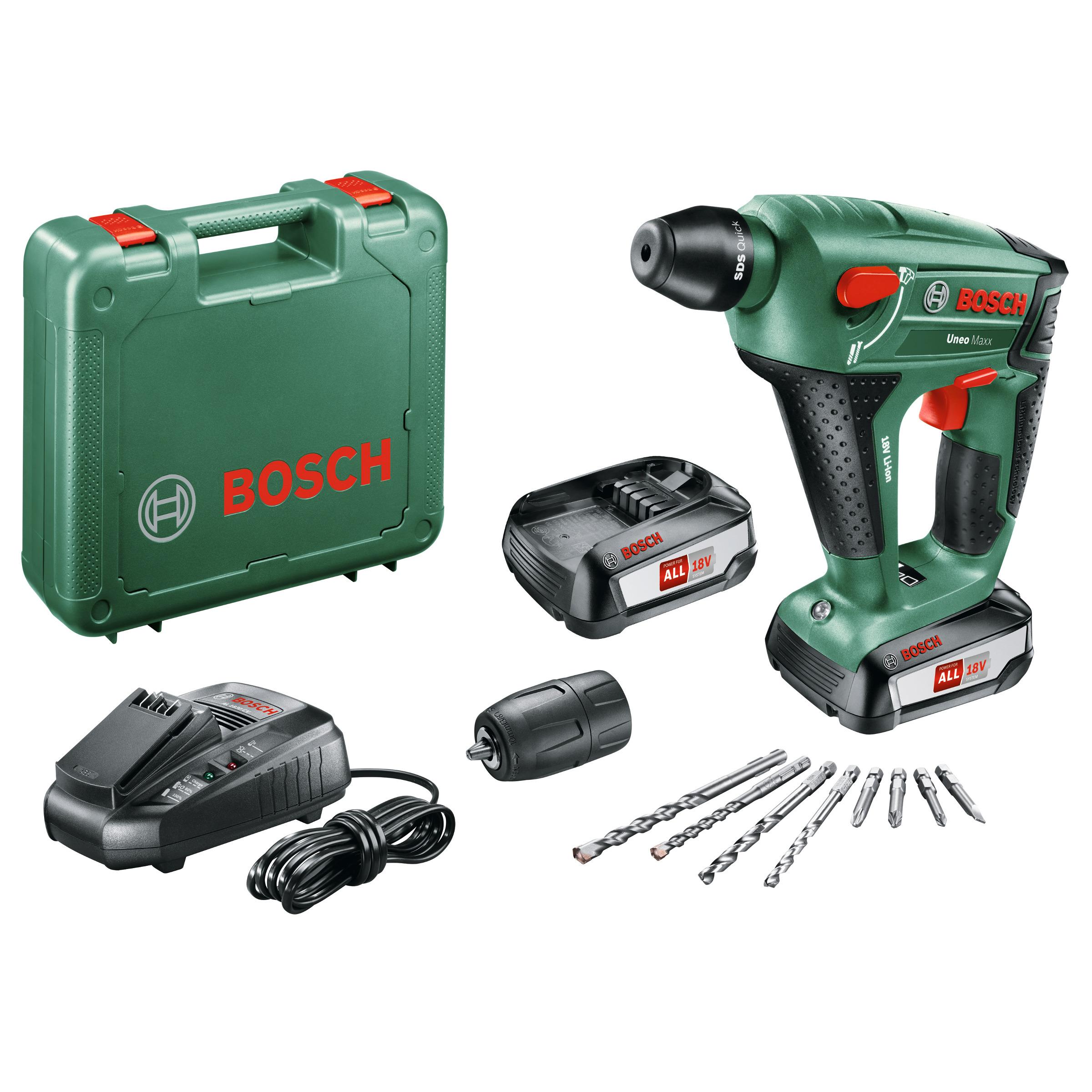 Bosch Uneo accuboorhamer 18 volt 2 accu's
