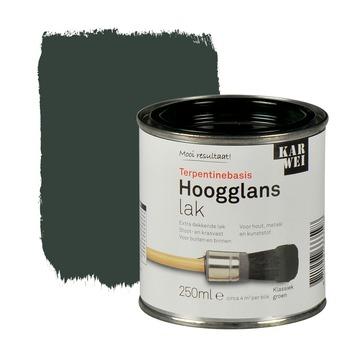 KARWEI lak hoogglans klassiek groen extra dekkend 250 ml